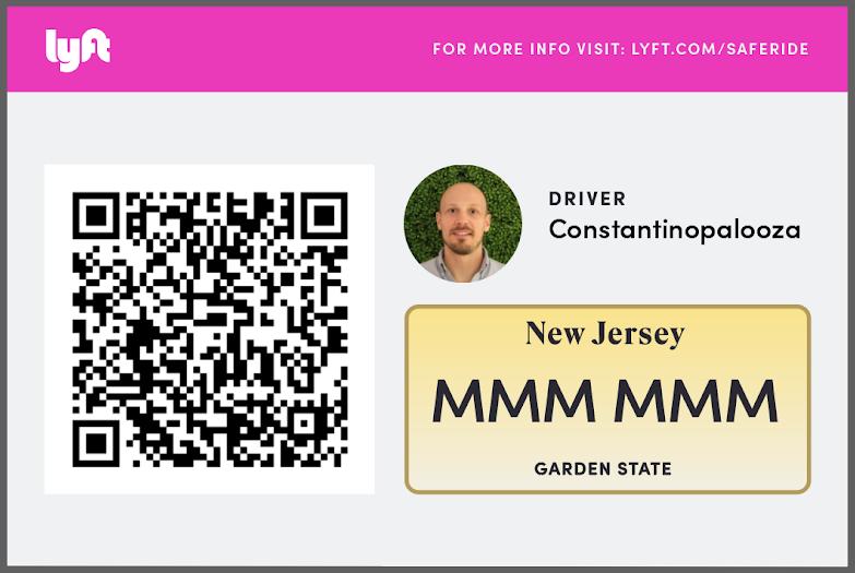 Пример таблички с QR-кодом в Нью-Джерси