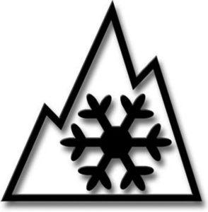 山峰雪花冬季專用胎標誌