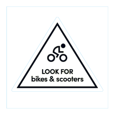 example bikes and scooters sticker