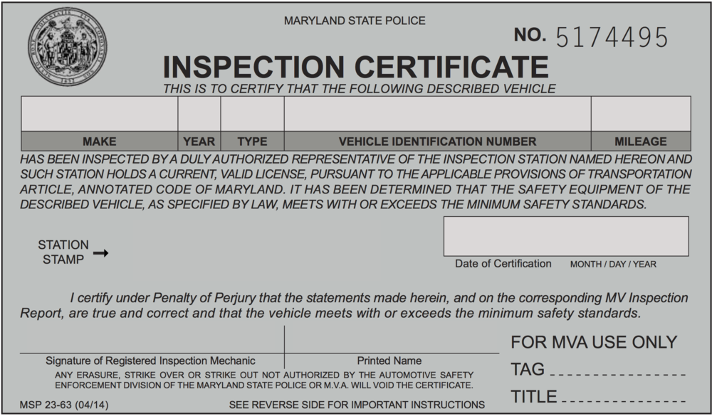 MD Inspection Example