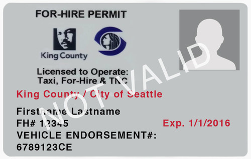 Seattle For Hire Driver Permit