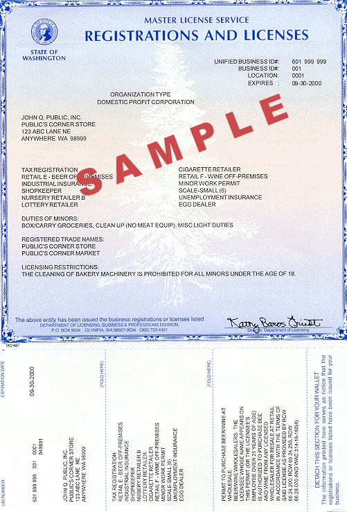 Washington Business License